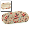 Red Rose Flower Printed Coffee Color Rectangle Hard Box Eyeglasses Case Holder