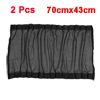 2 x Black Mesh Design Side Rear Window Curtains Sun Shade 70cmx43cm for Auto Car