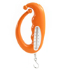 Orange Protable Handgrip 3Kg 6.6Lb Measurement Spring Hanging Bag Hook Scale