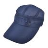 Dark Blue Letter Print Summer Outdoor Mesh Wide Visor Sun Cap for Men