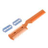 Replacing Blade Plastic Hair Cutting Razor Comb Trimmer Coffee Color