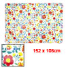 Kitchen PEVA Floral Print Table Desk Mat Tablecloth Yellow Red 152cm x 106cm