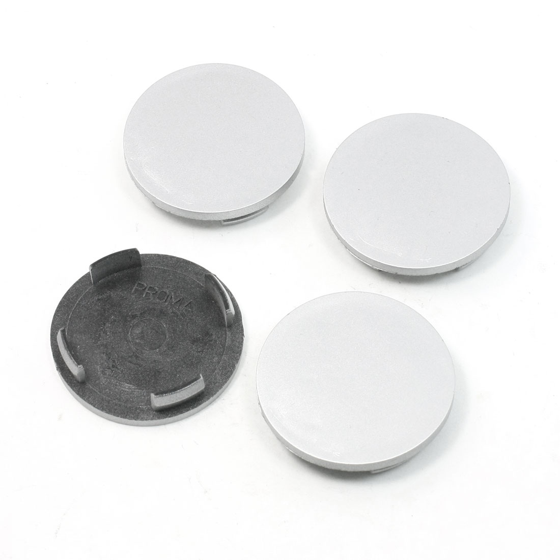 4 Pcs 60mm Dia 4 Plastic Lug Car Truck Wheel Center Hub Caps Covers Silver Tone