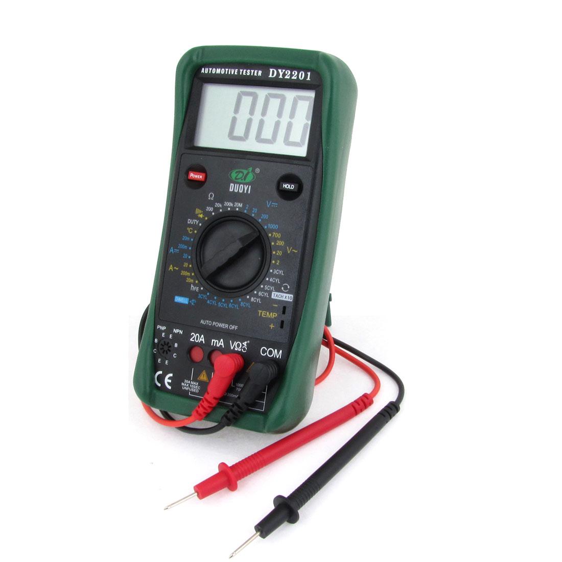 Repair Tool AC DC Voltmeter Ammeter Ohmmeter Digital Automotive Tester Multimeter