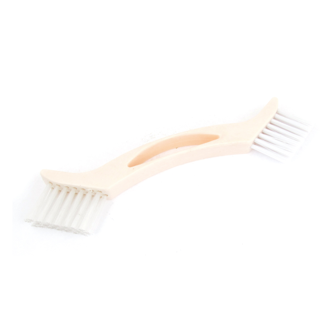 Double Ended Nylon Bristles Plastic Handle Cleaning Brush 23cm Length