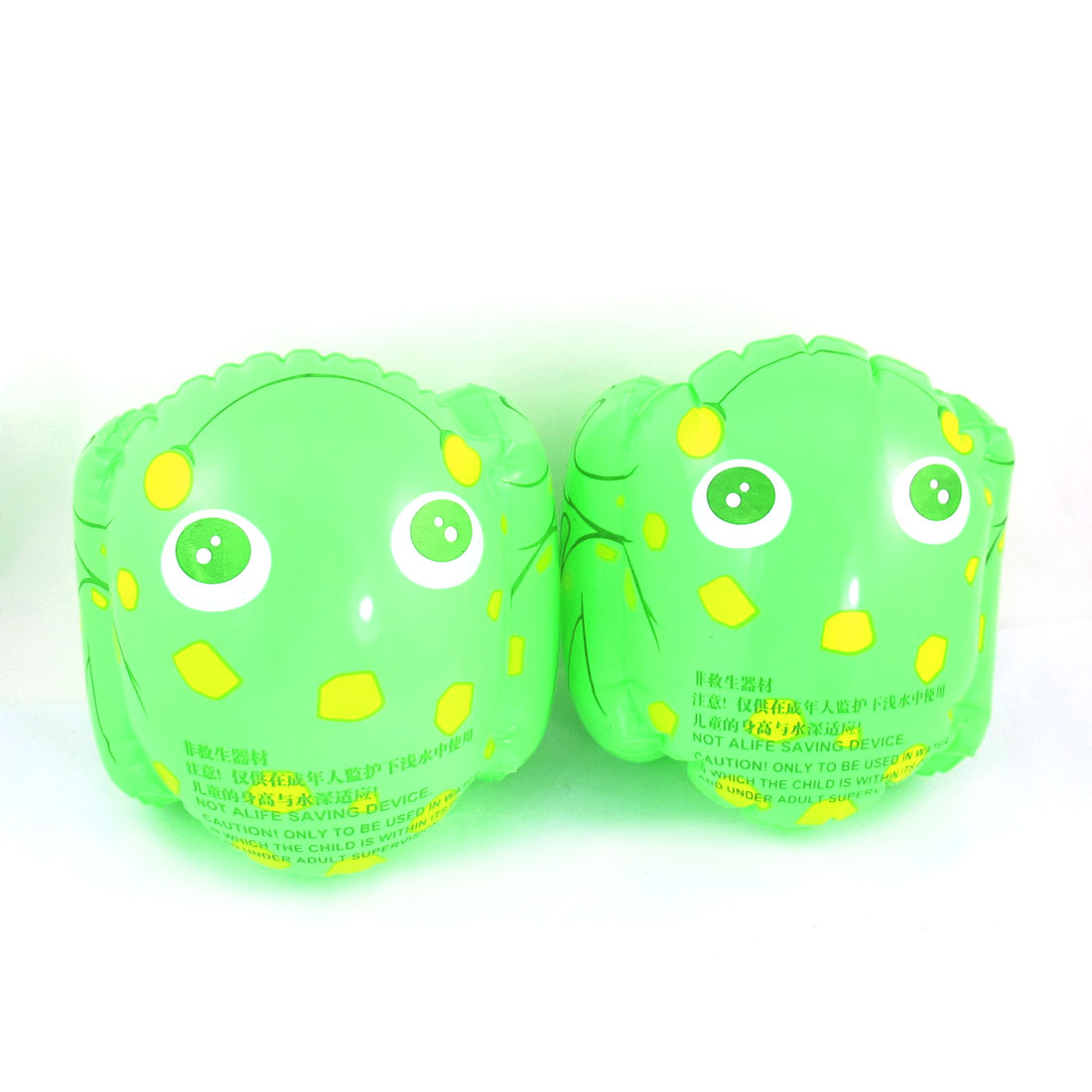 Pair Kids Infant Beach Inflatable Float Swimming Arm Bands Light Green