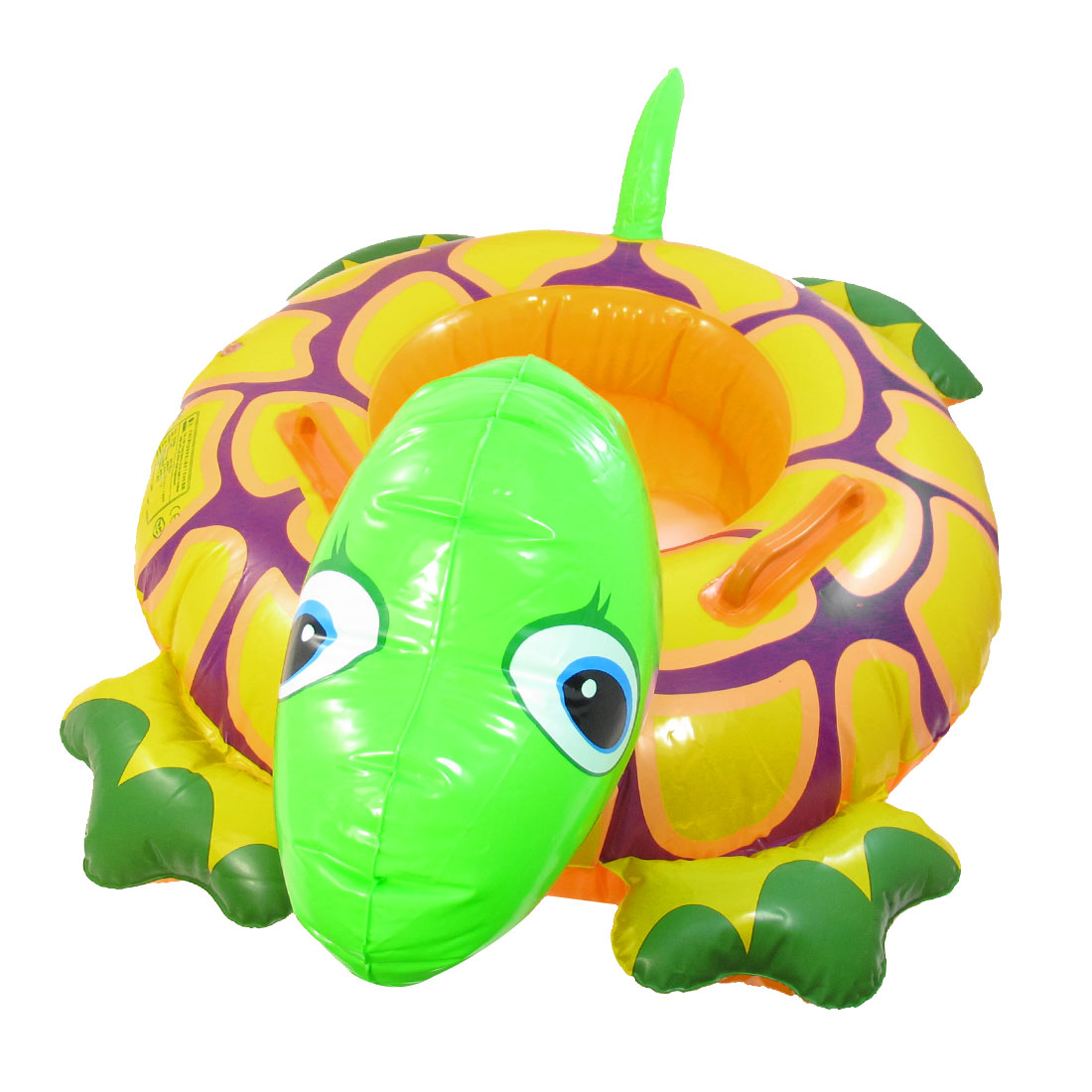Toddler Baby Turtle Design Green Orange Inflatable Swimming Seat Boat
