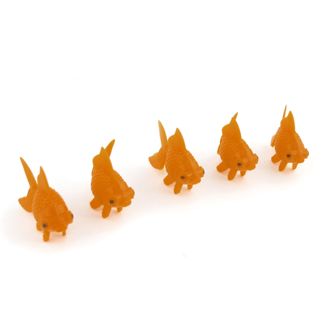 5 Pcs Aquarium Tank Orange Simulation Swaying Tails Tropical Fish Ornament