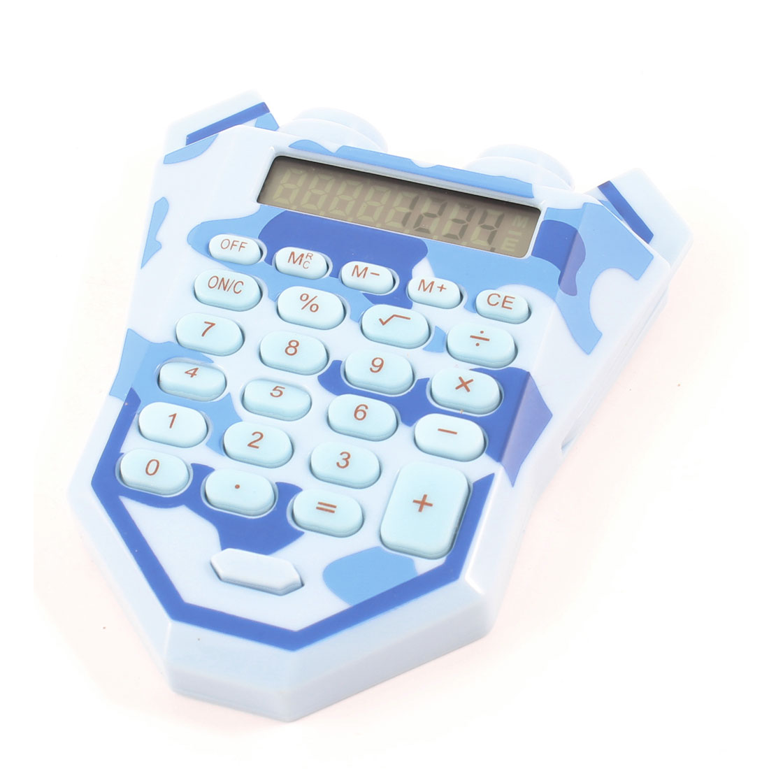 Blue Soft Silicone 24 Keypads Electronic Calculator