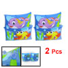 Pair Babies Beach Fish Print Inflatable Float Swimming Arm Bands Light Blue