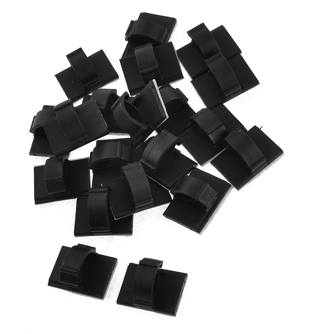 "Black Self-adhesive Mount Base for 0.4"" Width Cable Ties 20pcs"