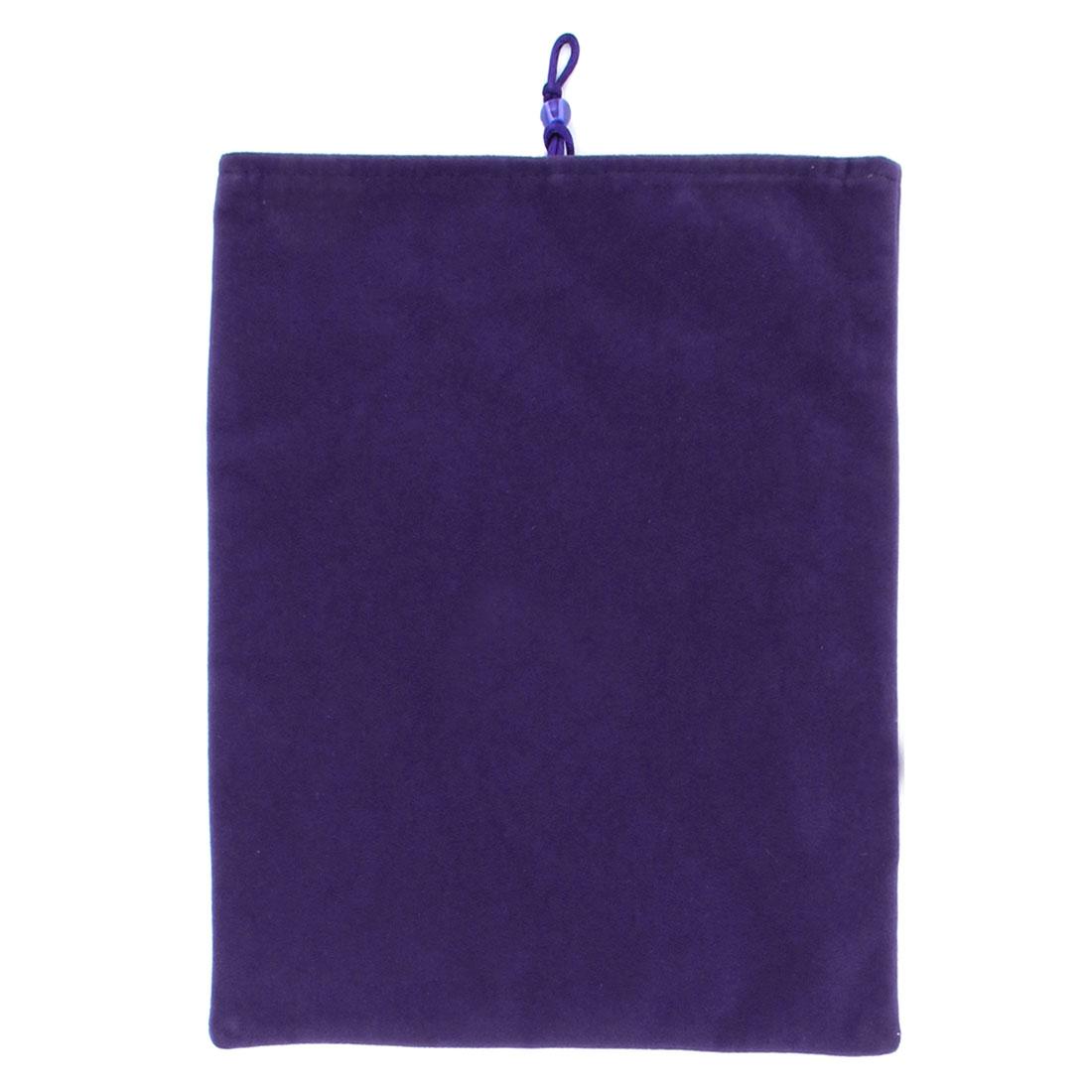 "9.7"" Purple Velvet Sleeve Bag Pouch Case Cover for Computer"