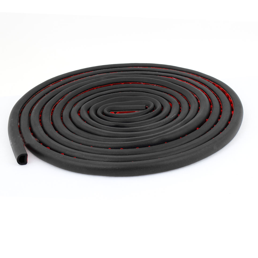 Black Rubber D Type Auto Door Window Noise Sealed Strip Weatherstrip 5 Meters