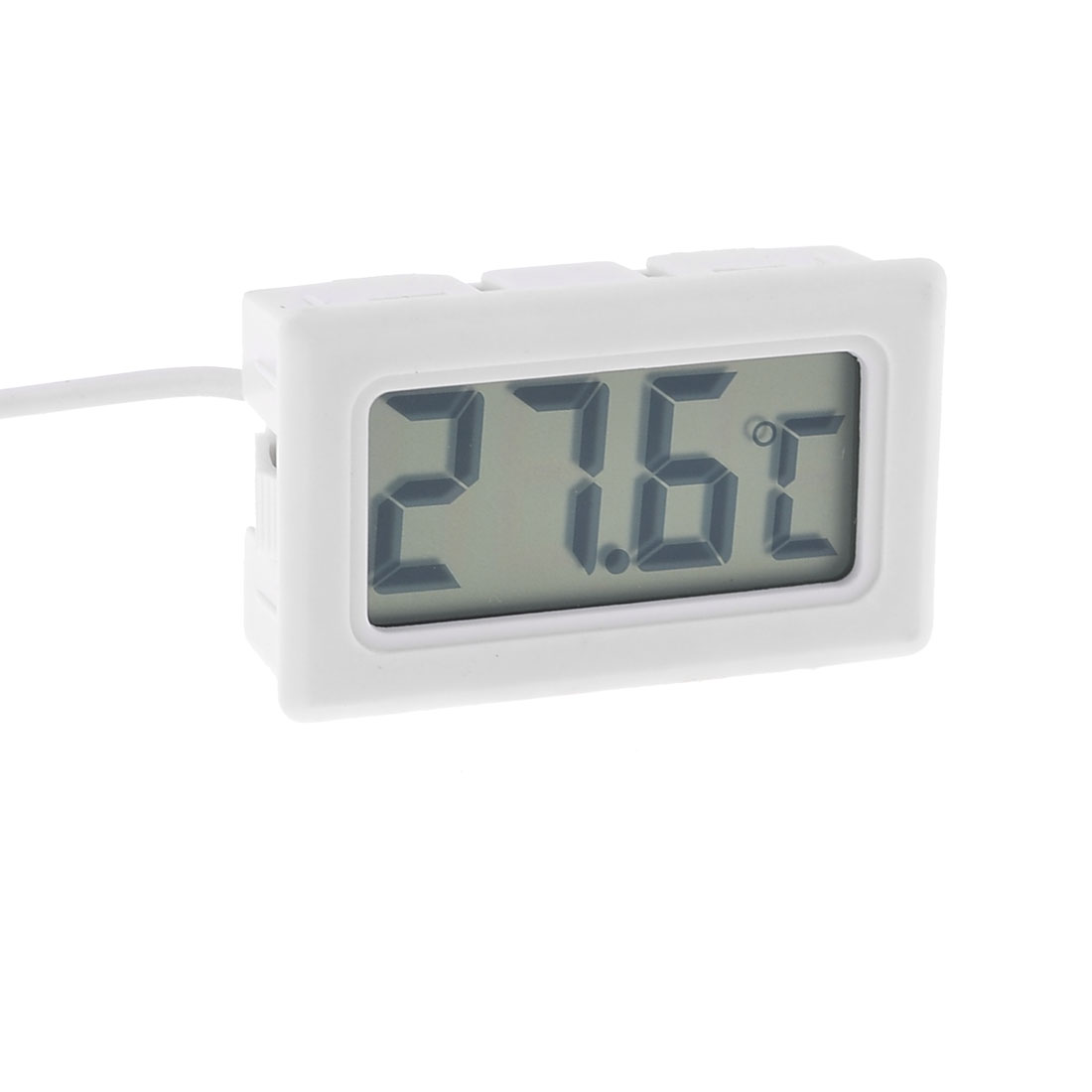 Termperature Probe LCD Display Digital Thermometer White w 3.3Ft Long Cable