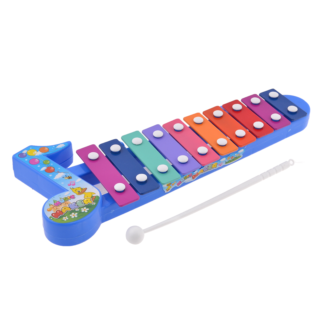 Colorful 10 Tone Beat Percussion Xylophone Toy for Kids Children