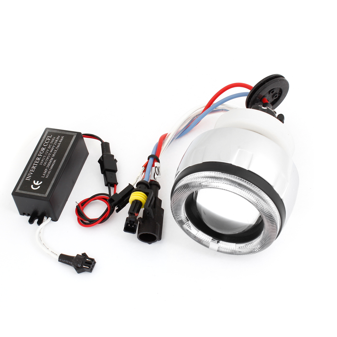 DC 12V 3W Motorcycle White HID Xenon Projector Lens Lamp Conversion Kit