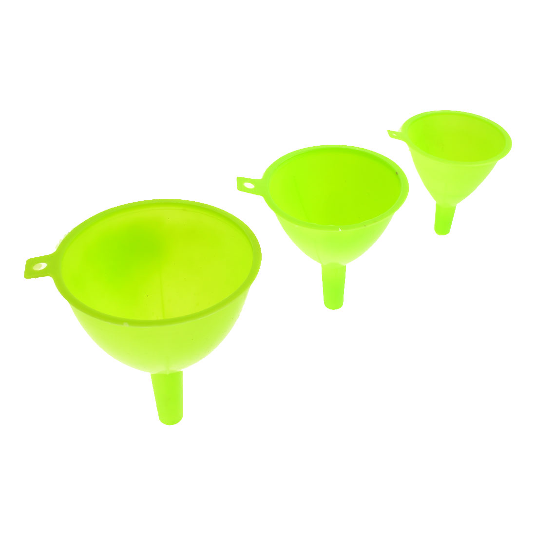Light Green Plastic 3 Sizes 122mm 110mm 95mm Dia Filter Funnels