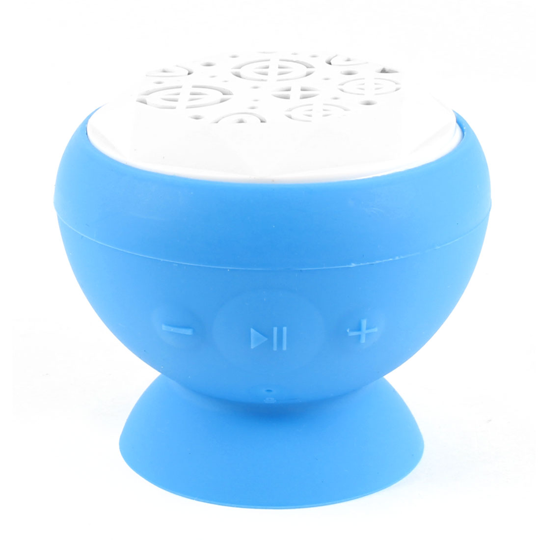 Blue Silicone Suction Cup Phone Stand Handsfree Mini bluetooth Speaker for PC