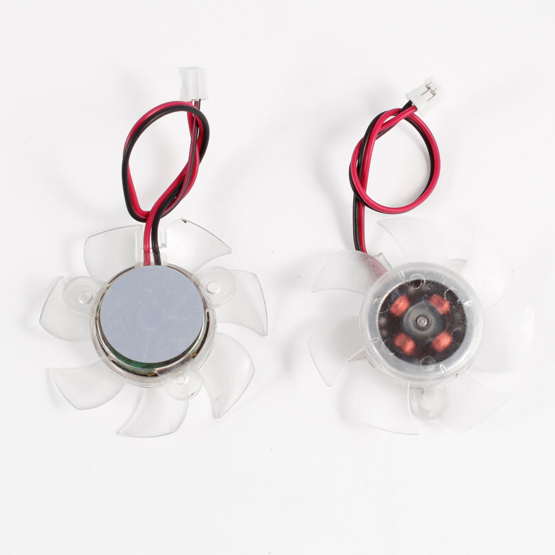 2 Pcs 45mm Clear Plastic PC VGA Cooler Video Card Cooling Fan 12VDC
