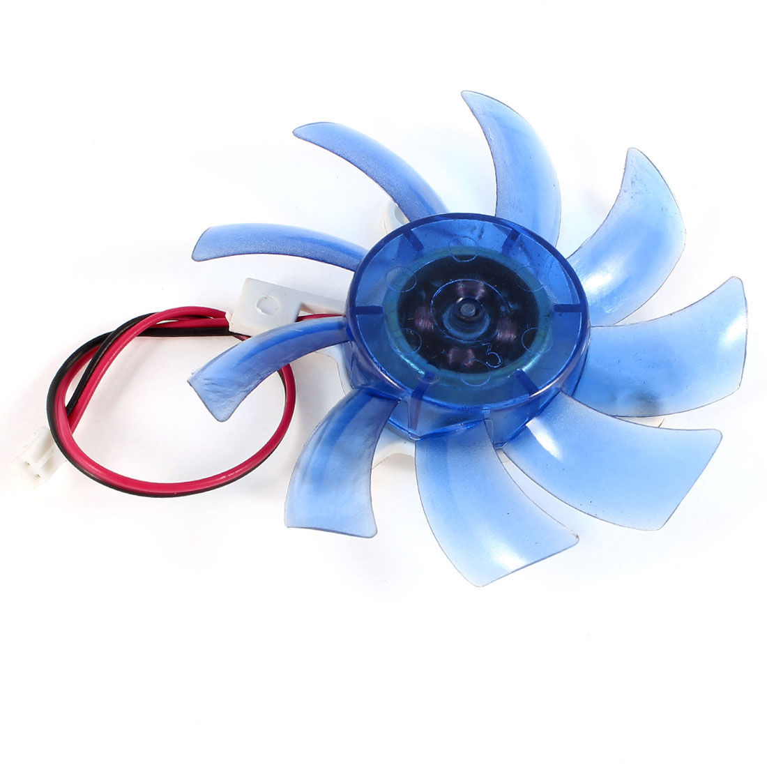 75mm 12VDC Blue Plastic VGA Video Card Cooling Fan Cooler for Computer