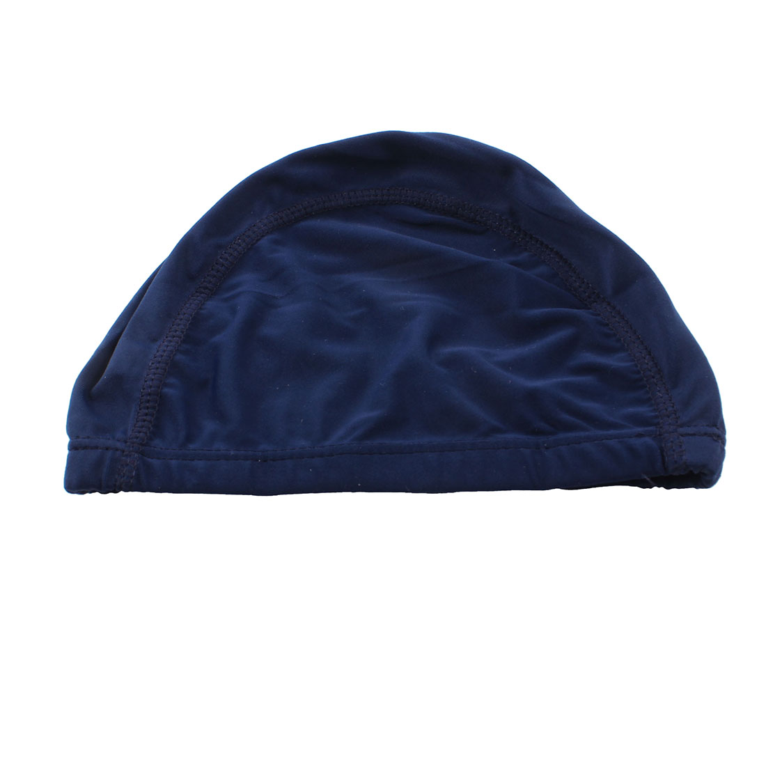 Royal Blue Elastic Polyester Swimming Cap Hat for Man Woman