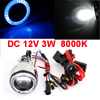 47mm Angel Eye HID Xenon Projector Lens Blue Light Kit 8000K for Motorbike