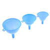 Blue Plastic 3 Sizes 122mm 110mm 95mm Dia Filter Funnels