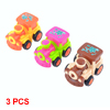 3 Pcs Children Kids Colorful Plastic Speed Pull Back Train Head Toy