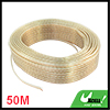 50M 164Ft Long Copper Tone Speaker Wire Cord for Home Car Audio