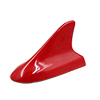 Red Plastic Shark Fin Design Decorative Antenna 13.3cm for Auto