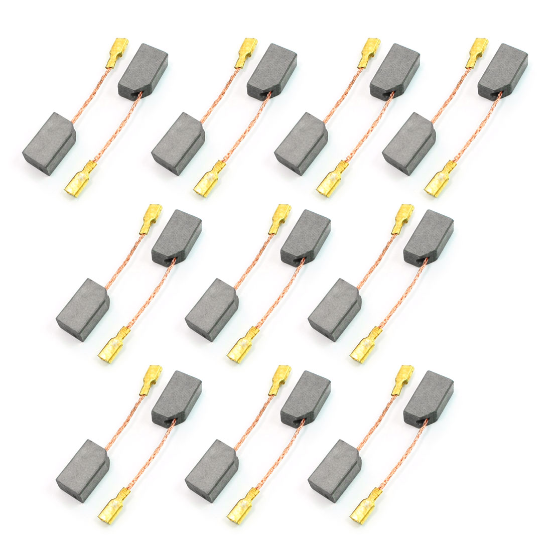 14mm x 8mm x 6mm Motor Carbon Brush Motorcarbon 10 Pairs for Dewalt 100
