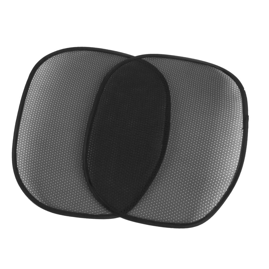 2 x Black Mesh Design Nylon Side Rear Window Sunshade Sun Shade for Car