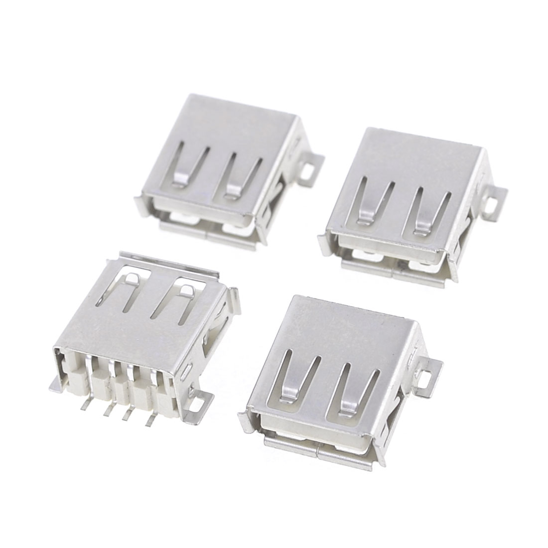 4 Pcs USB 2.0 A Female Jack Socket PCB SMT Connector Adapter for Computor