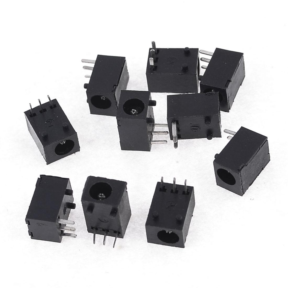 10pcs 3.5mm Dia PCB DC Power Jacks Sockets Charge Ports