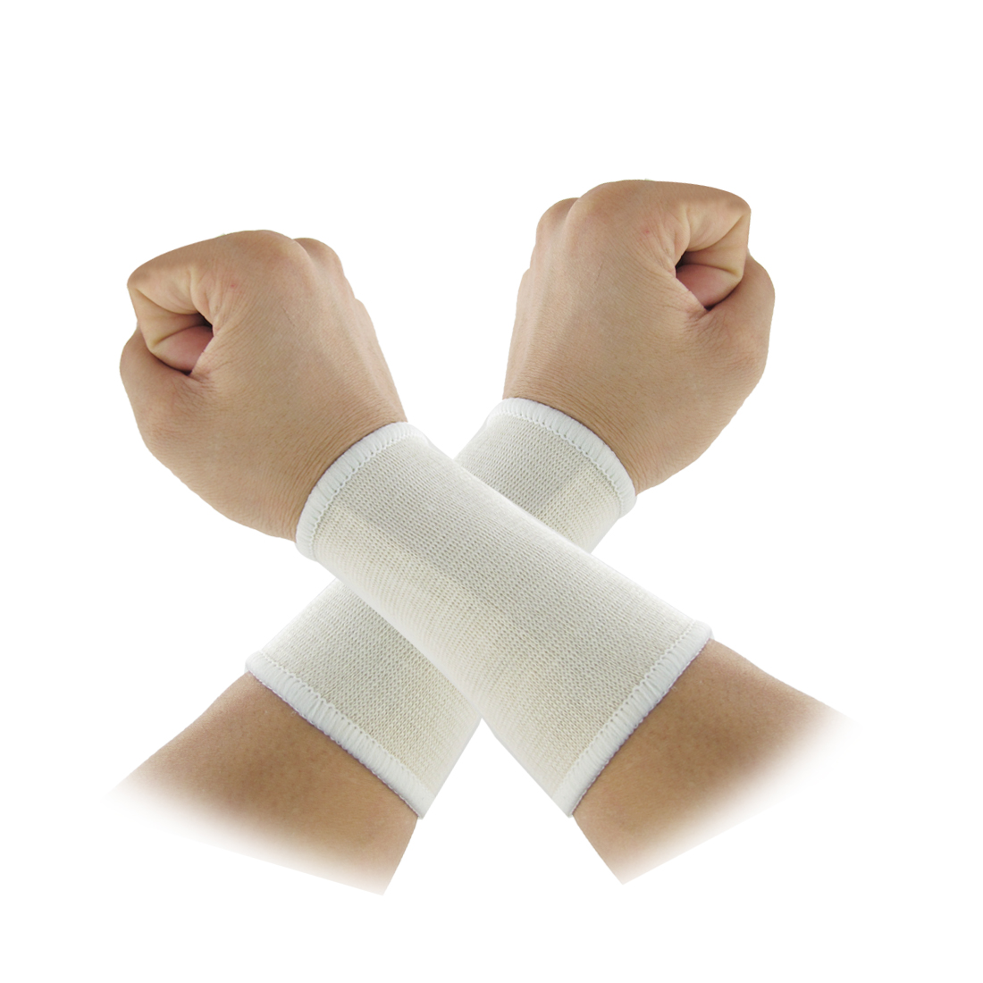 Basketball Volleyball Ivory Stretch Protective Wrist Support 2 Pcs