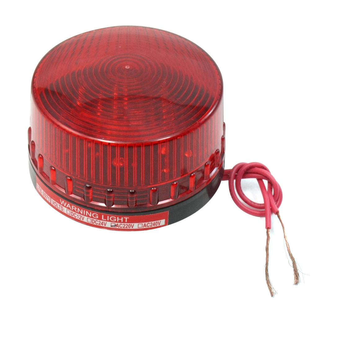 AC 220V Plastic Dome Case Industrial Emergency Red Flash Warning Light Lamp LED