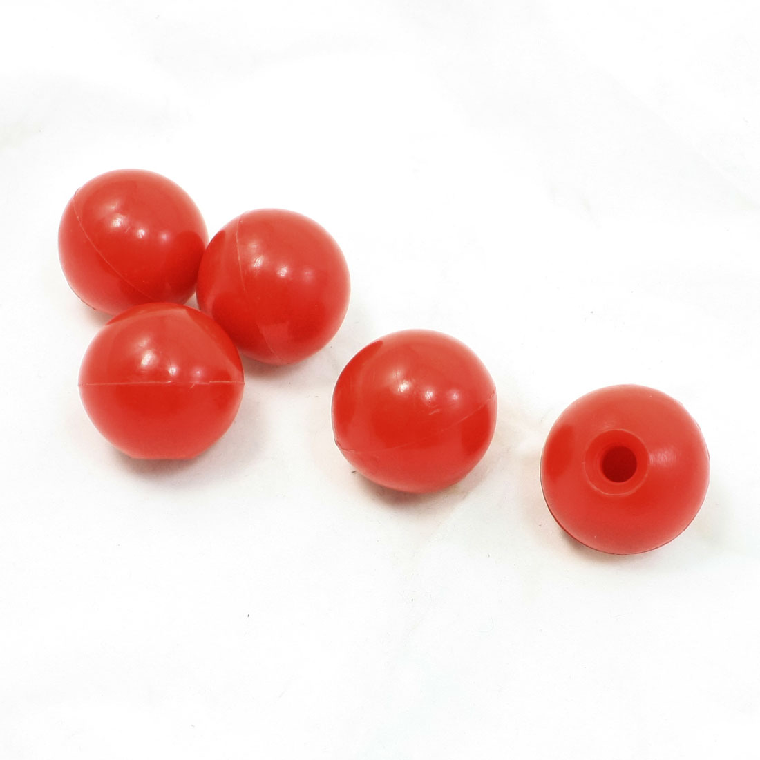 5 x Arcade Game Joystick Machine Handle Ball Knob Red 32mm Dia M8 Thread