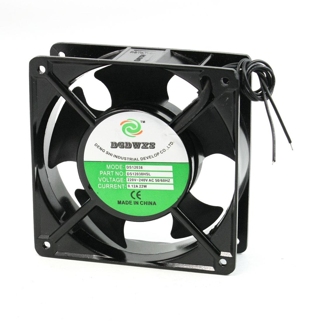 Industrial Cabinet Cooling Fan Ventilator DS12038HSL AC220-240V 120x120x39mm