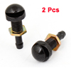 "2 Pcs 1.4"" long Black Metal Windshield Washer Nozzles for Car"