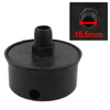 15.5mm Male Threaded Dia Black Plastic Air Compressor Silencer Muffler