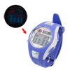 Girls Purple White Round Dial Ajustable Watchband Alarm Stopwatch Sport Watch