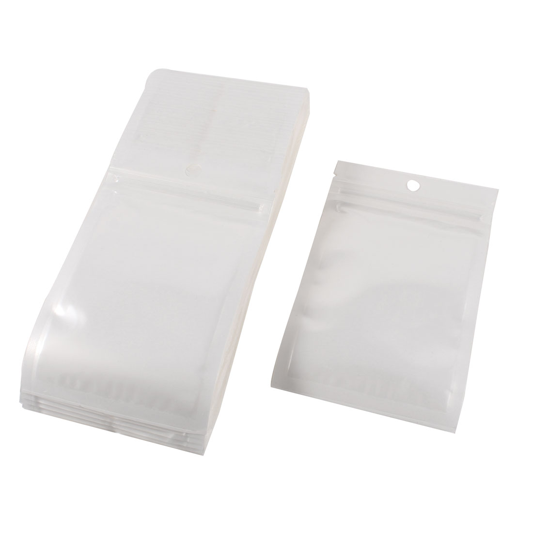 Plastic Ziplock Sealing Seal Bag 8cmx13cm Mobile Spare Parts White Clear 100pcs