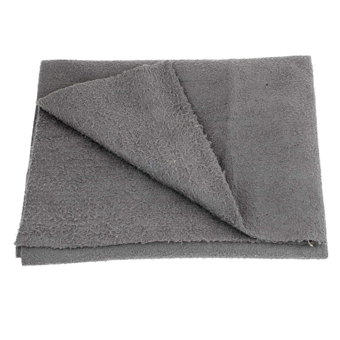 Rectangle Gray 46cm x 39cm Microfiber Polishing Towel Cleaning Cloth for Car