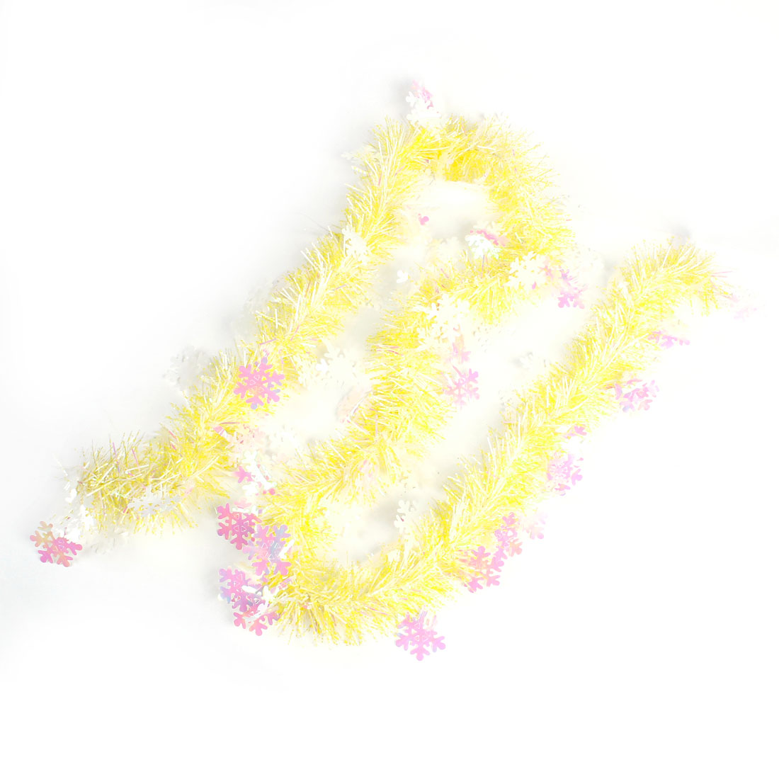Flower Decor Sparkly Fluffy Party Wedding Hanging Tinsel Garland 2 PCS