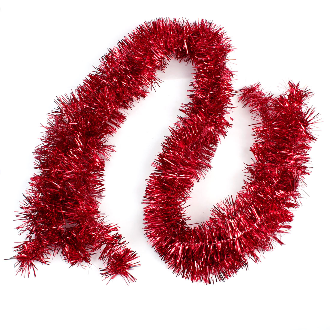 Christmas Party Wedding Tinsel Sparkly Fluffy Decor Garland Red 180 x 6cm 5 PCS