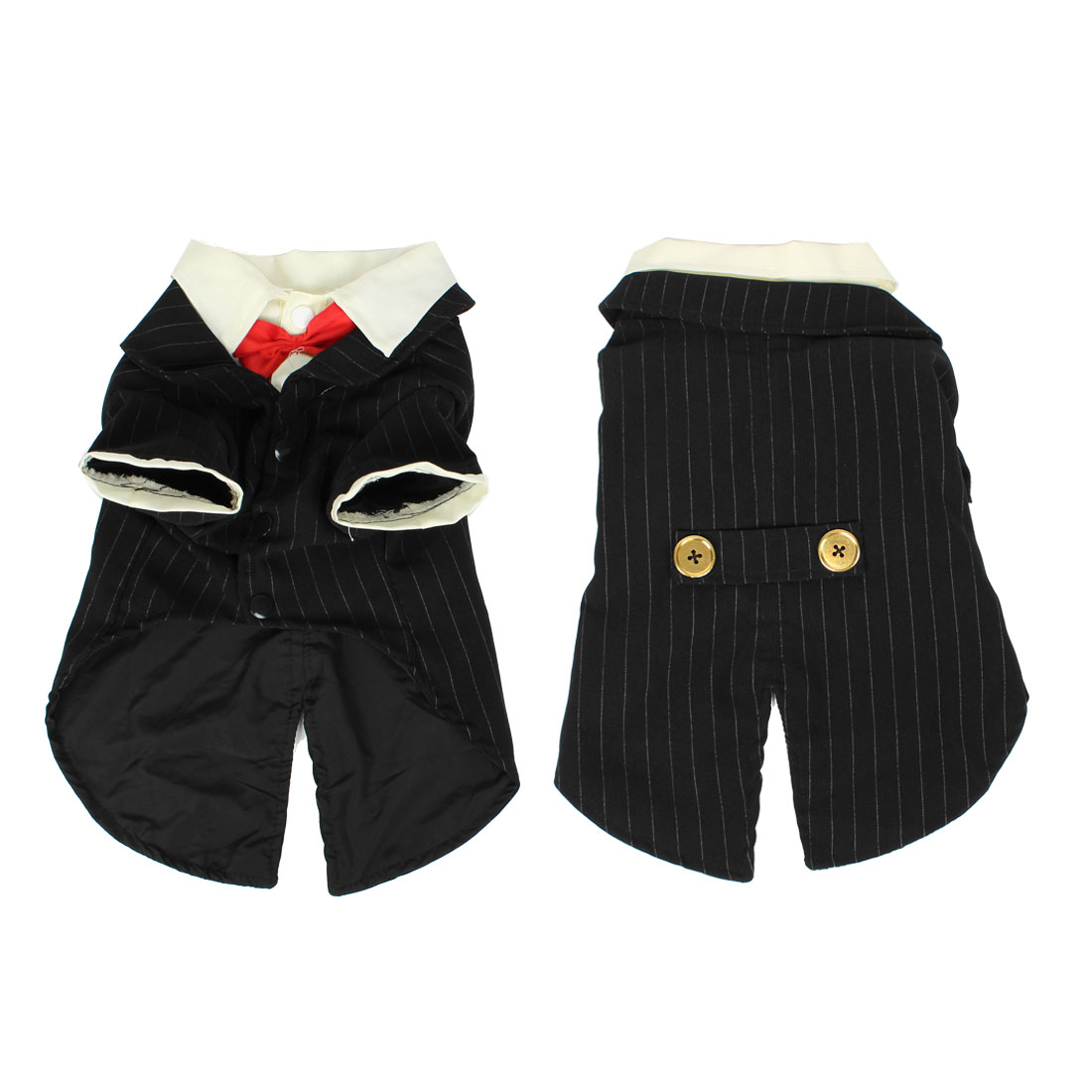 Pet Dog Chihuahua Apparel Groom Suit Wedding Dress Doggie Clothes Coat Black L