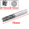 Helical Groove 10mm Cutting Dia 4 Flutes 55 Degree Angle End Milling Cutter