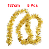 Sparkly Fluffy Christmas Party Wedding Decor Tinsel Garland Gold Tone 5pcs