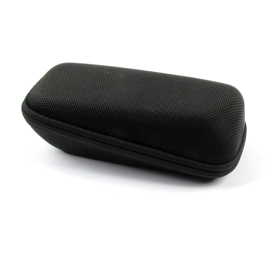 Flannel Lining Gradient Zipper Closure Eyeglasses Eyewear Box Case Black