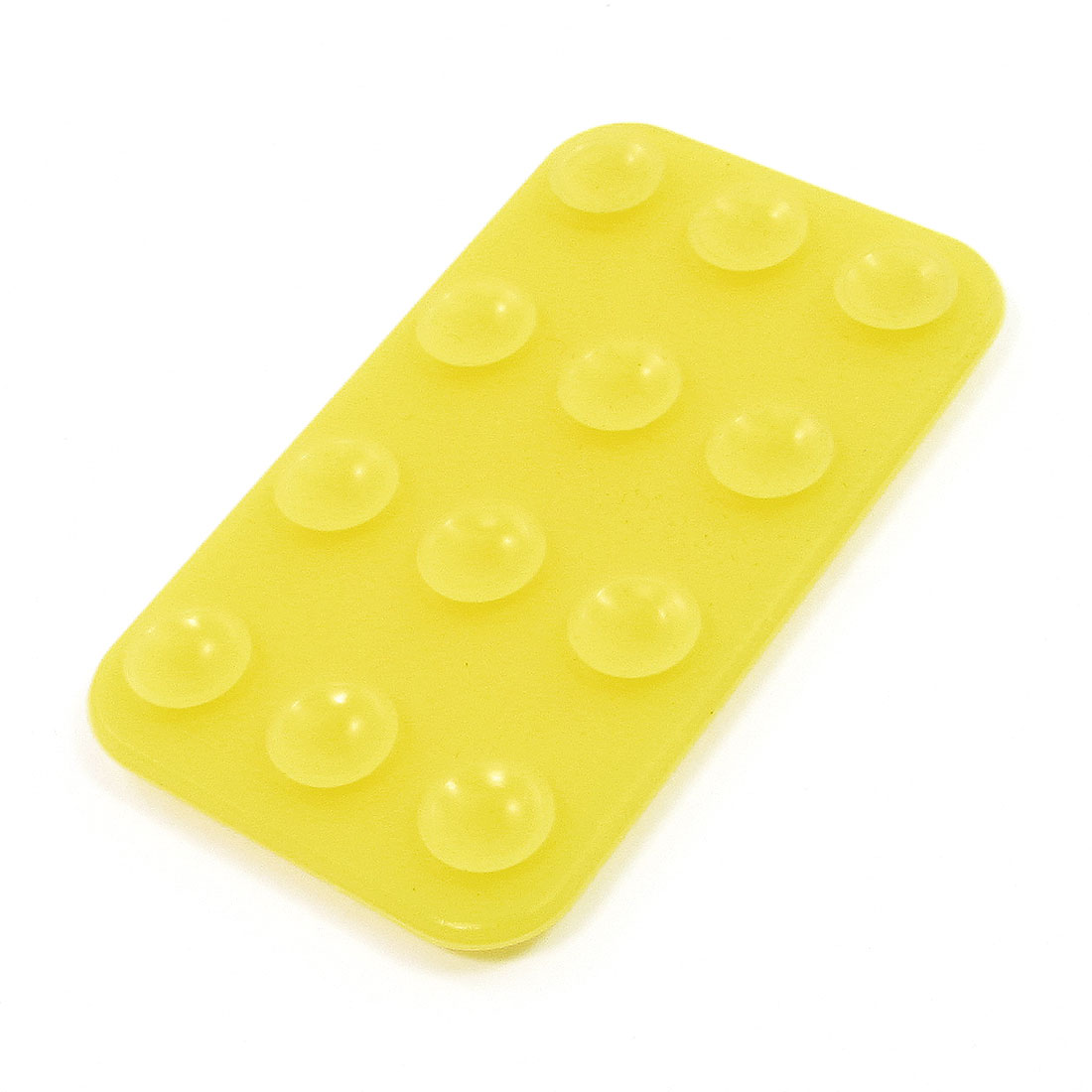 Yellow Silicone Rectangular Shaped Double Side Suction Cup for Mobile Phone